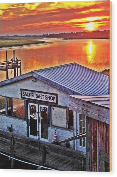 Bait Shop Wood Print