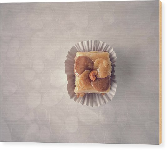 Baklawa With Almonds Wood Print by Samere Fahim Photography