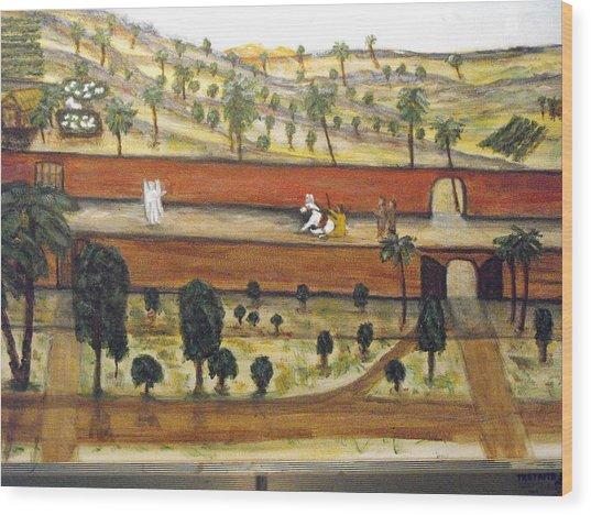 Balaam And The Talking Donkey Wood Print