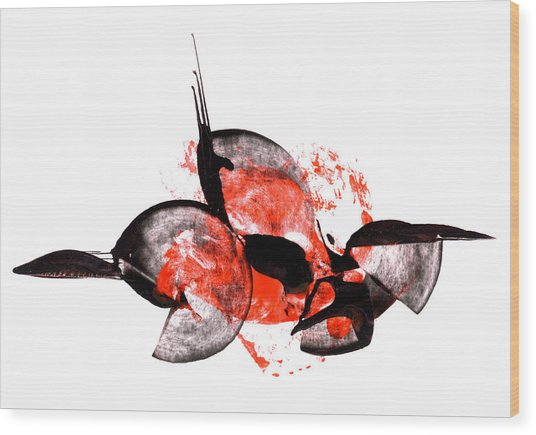 Balance - Modern Abstract Art Painting On Paper Wood Print