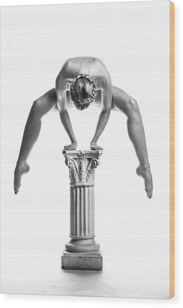 Balance Or Power Wood Print by Maarten Scholtheis