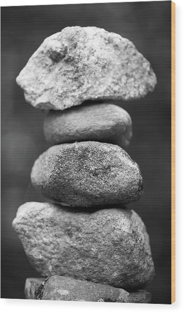 Balanced Rocks, Close-up Wood Print