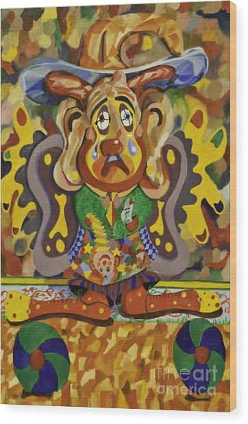 Balancing Clown Wood Print