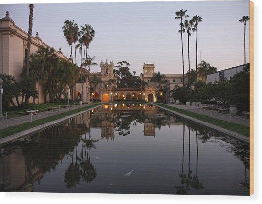Balboa Park Reflection Pool Wood Print