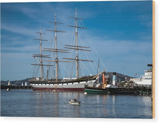 Rowing Past Balclutha And Steamship Eppleton Hall Wood Print