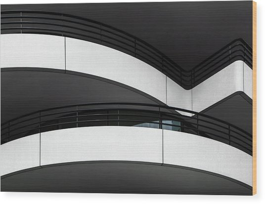 Balcony Lines Wood Print