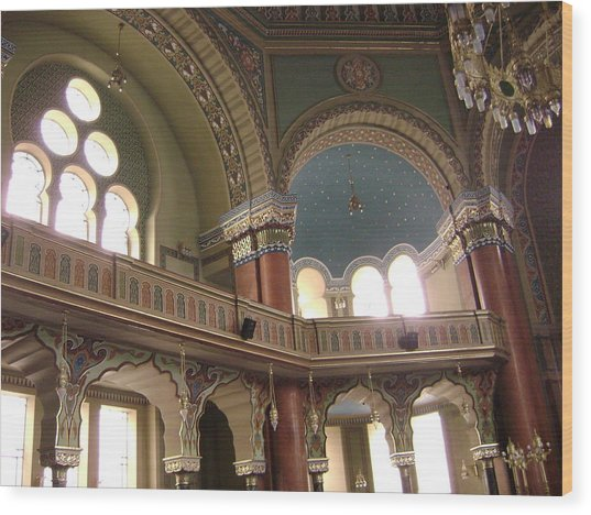 Balcony Of Sofia Synagogue Wood Print