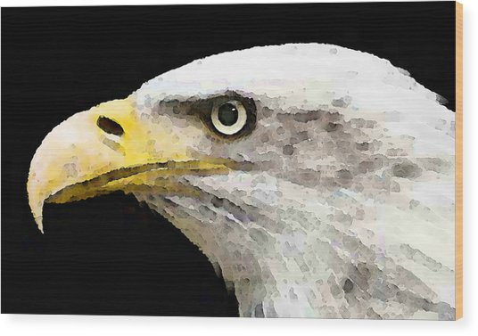 Bald Eagle By Sharon Cummings Wood Print by William Patrick