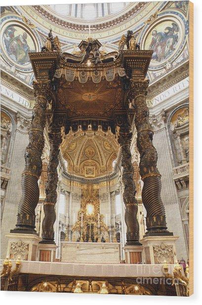 Baldacchino Di San Pietro Wood Print
