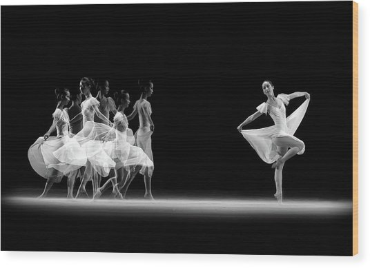Balerina Movement Wood Print