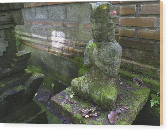Balinese Praying Figure Wood Print