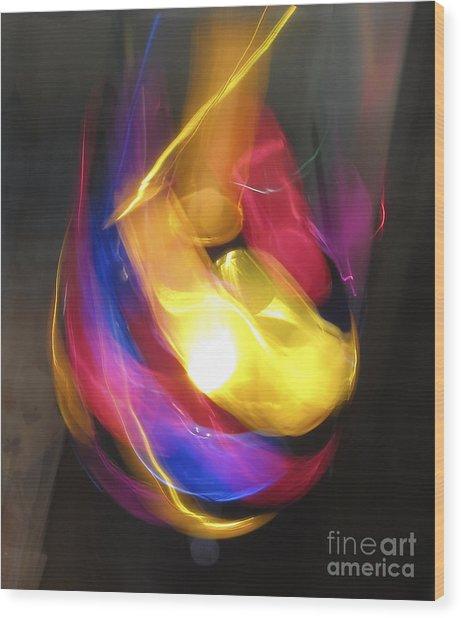 Ball Of Light Wood Print