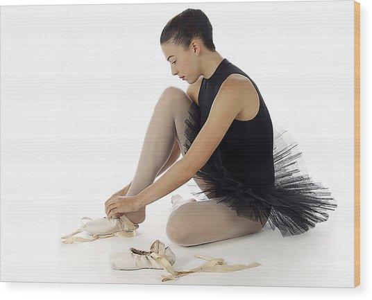 Ballerina   Wood Print by Stephen Norris