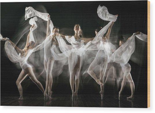 Ballerina Story Wood Print by Martha Suherman