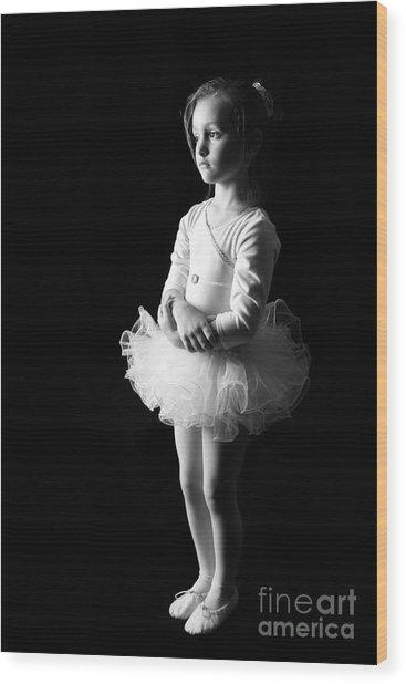 Ballerina Wood Print by Suzi Nelson