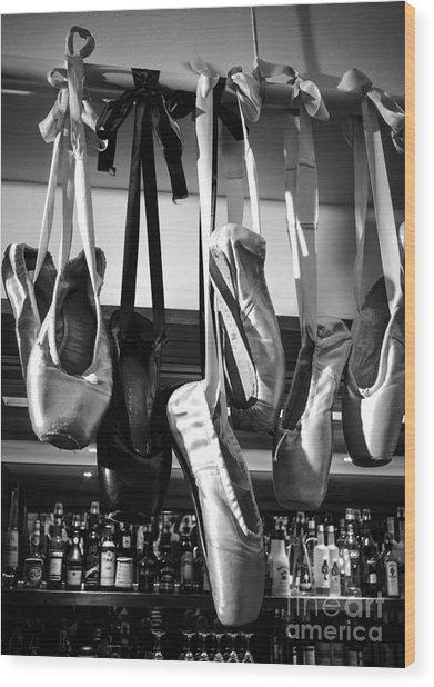 Ballet At The Bar Wood Print