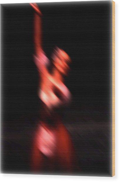Ballet Blur 4 Wood Print