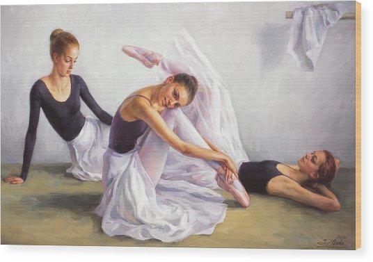 Ballet Class Wood Print