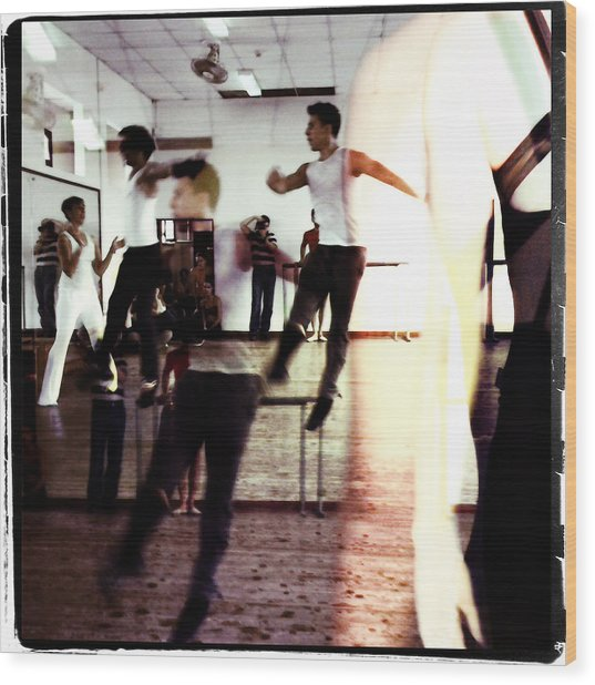 Ballet Doble Wood Print