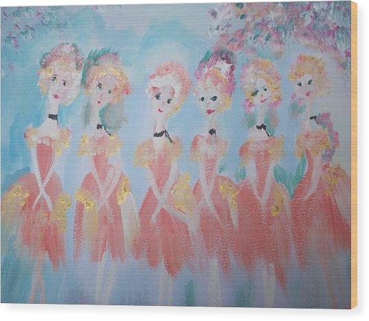 Ballet Group Wood Print