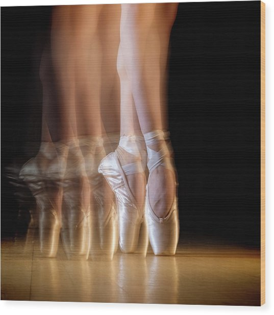 Ballet Wood Print by Howard Ashton-jones