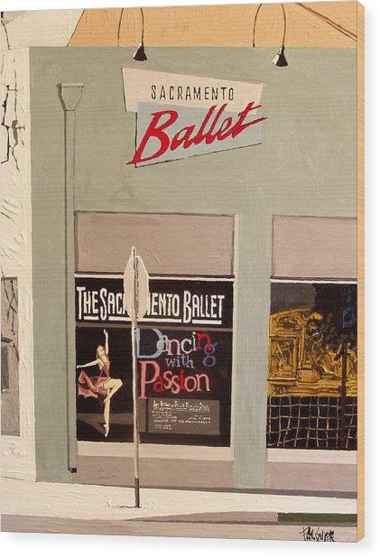 Ballet On K Wood Print by Paul Guyer
