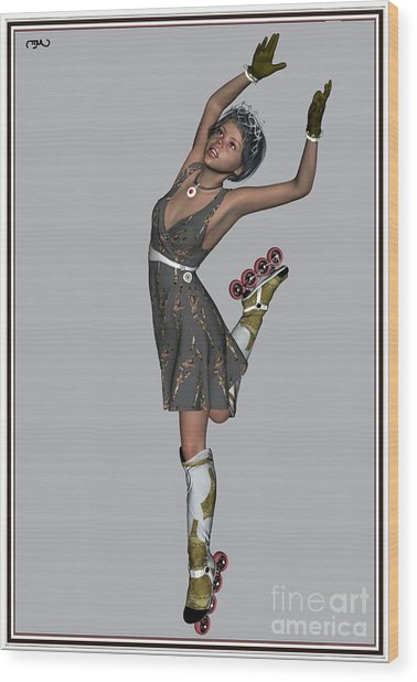 Ballet On Skates 6bos1 Wood Print by Pemaro