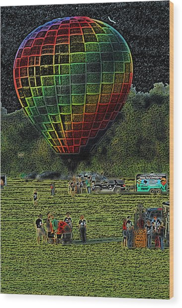 Balloon Launch Wood Print