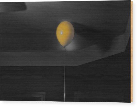 Balloon On Ceiling Wood Print