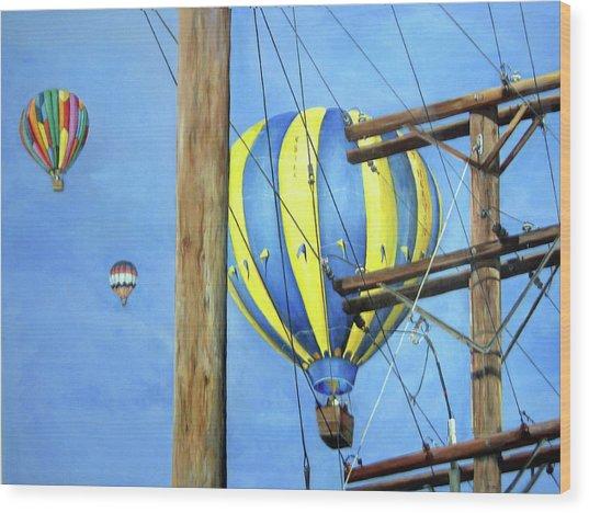 Balloon Race Wood Print