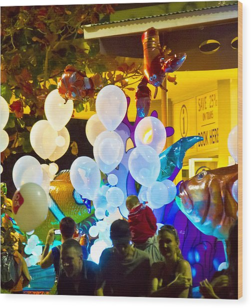 Wood Print featuring the photograph Balloons by Debbie Cundy