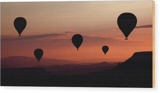 Balloons Wood Print by Engin Karci