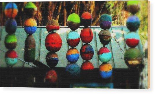 Balls From Heaven Wood Print by Claudette Bujold-Poirier