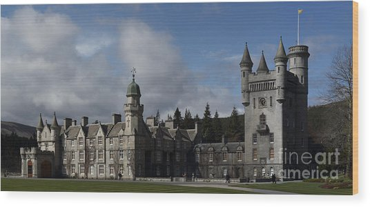 Balmoral Castle In A Closeup Panorama Wood Print