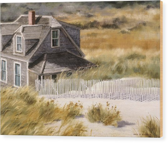 Balston Beach House Wood Print
