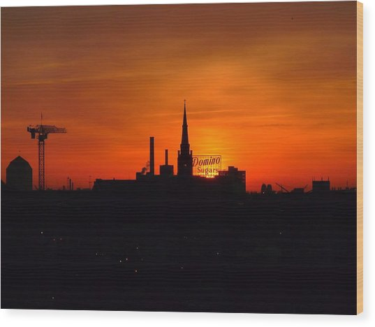 Baltimore Dawn Wood Print