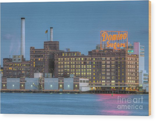 Baltimore Domino Sugars Plant I Wood Print