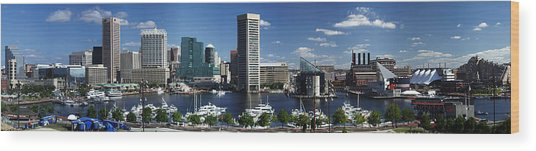 Baltimore Inner Harbor Panorama Wood Print