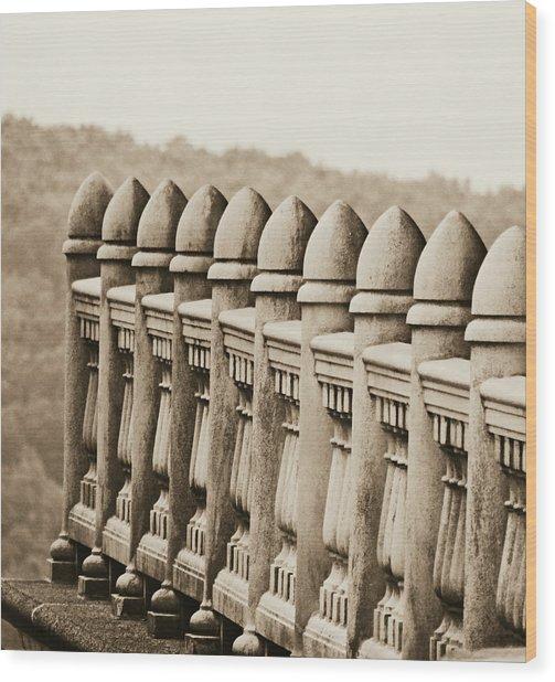 Balustrade Wood Print by Brenda Conrad