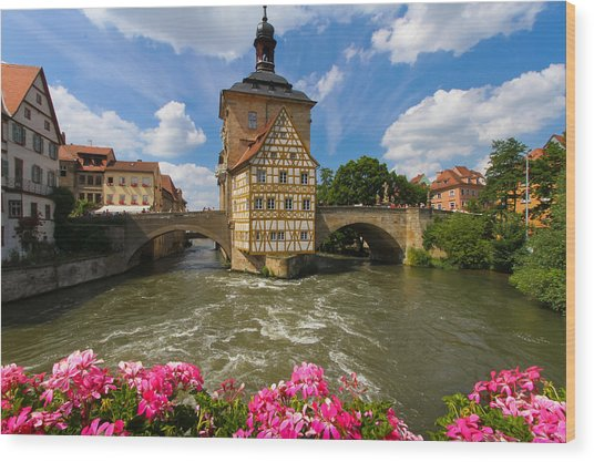 Bamberg Bridge Wood Print