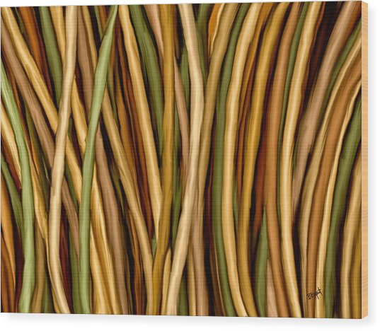 Bamboo Canes Wood Print