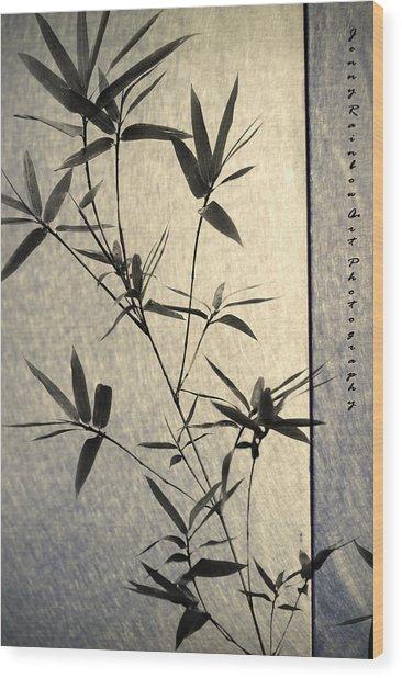 Bamboo Leaves Wood Print