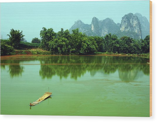 Bamboo Raft Wood Print