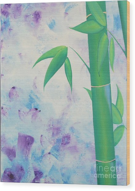 Bamboo Tryptych 1 Wood Print