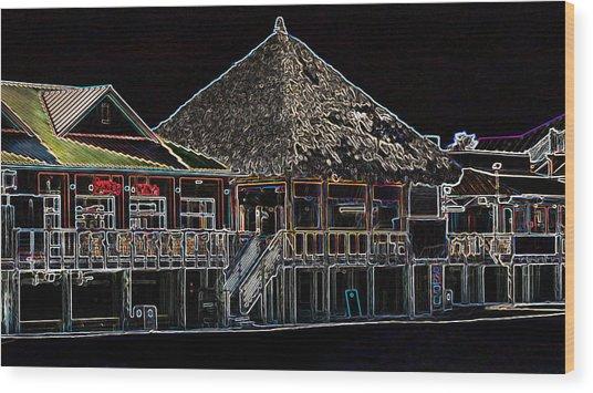 Bamboo Willies In Neon Wood Print