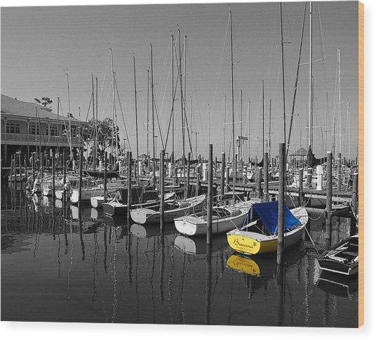 Banana Boat Wood Print