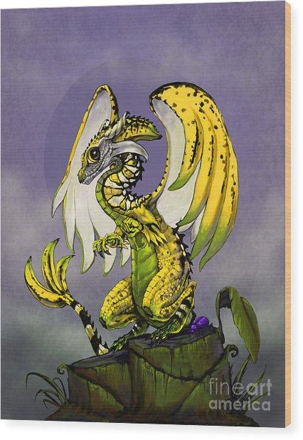 Banana Dragon Wood Print
