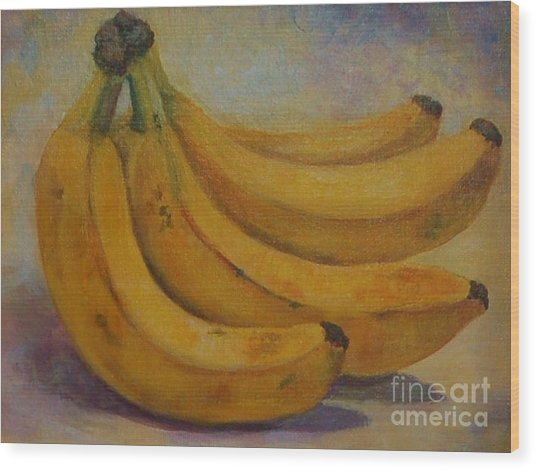 Bananas Wood Print by Jana Baker