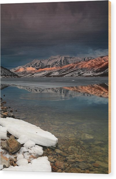 Band Of Light Over Deer Creek. Wood Print