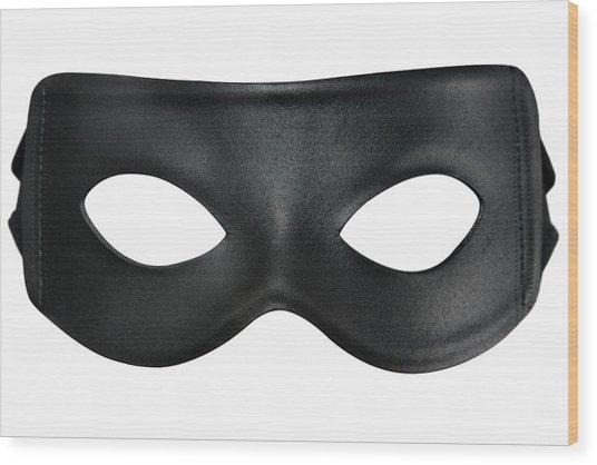 Bandit Mask Wood Print by RoyalFive